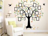 Tree Wall Mural Ideas Family Tree Wall Decal 9 Frames Peel