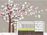 Tree Wall Mural Nursery Cherry Blossoms Tree Wall Decals Vinyl Wall Decal Wall