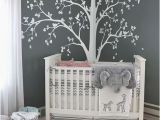 Tree Wall Mural Nursery Tree Decal Huge White Tree Wall Decal Stickers Corner