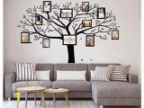 Tree Wall Mural Stencil Luckkyy Giant Family Tree Wall Decor Wall Sticker Vinyl Art