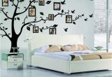 Tree Wall Mural with Picture Frames Family Diy Tree Flying Birds Tree Wall Stickers