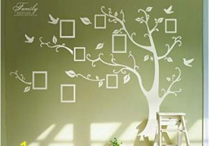 Tree Wall Mural with Picture Frames Huge White Frame Wall Stickers Memory Tree Wall Decals Decor Vine Branch Removable Pvc Stickers Murals