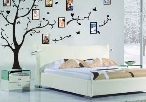 Tree Wall Mural with Picture Frames Size 200 260cm Colorful Diy Photo Vinyl Tree Family