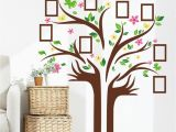Tree Wall Mural with Picture Frames Us Family Tree butterfly Wall Sticker Picture Frame