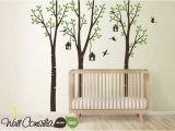 Tree Wall Murals for Nursery Baby Nursery Wall Decals Birdshouse Decal Tree Wall Decal