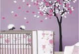 Tree Wall Murals for Nursery Baby Nursery Wall Decals Tree Wall Decal Tree Decal Hedgehog