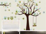 Tree Wall Murals for Nursery Paisley Owl Wall Decal Childrens Room Vinyl Nursery Tree Owl Tree