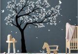 Tree Wall Murals for Nursery Tree Wall Decal Tree Decals Huge Tree Decal Nursery with Birds