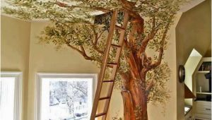 Treehouse Mural Cindy and Jorge S Work A Trompe L Oeil Tree House In A Chicago