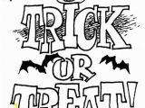 Trick or Treat Coloring Pages Printable Halloween Coloring Pages
