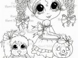 Trick or Treat Coloring Pages Printable Instant Download My Besties Digi Stamps Trick Treat