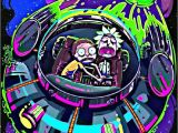 Trippy Wall Murals Download Rick Morty Neon Ufo Wallpaper by Z7v12 0d Free On Zedge