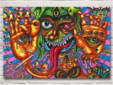 Trippy Wall Murals Kunstwerk Trippy Psychedelic Abstrakte Kunst Silk Poster