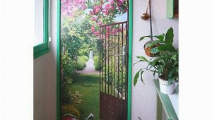 Trompe L Oeil Door Murals Trompe L Oeil Jardin De Roses