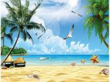 Tropical Beach Wall Mural Amazon Xbwy Custom 3d Mural Wallpaper for Wall Holiday