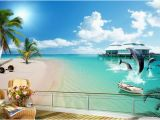 Tropical Beach Wall Mural Custom Wall Mural Modern Art Painting High Quality Mural Wallpaper Beach Coconut Tree Aegean Sea Tv Background Wall 3d Wallpaper Mural Wal Wallpapers