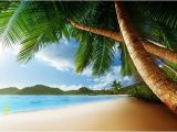 Tropical Beach Wall Mural Mahe island Wall Mural Beach Wallpaper