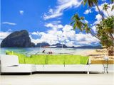 Tropical Beach Wall Mural Papel De Parede Beach Scenery Natural Landscape 3d Wallpaper Mural Living Room sofa Tv Wall Bedroom Wall Papers Home Decor Hd Wallpaper A Hd Wallpaper