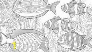 Tropical Fish Coloring Pages Coloring Pages for Adults Tropical Fishes Adult Coloring