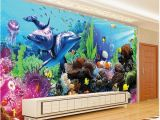 Tropical Fish Wall Mural Any Size Underwater World Aquarium 3d 3d Tropical Fish Tv Wall Mural Papers for Tv Backdrop Wallpapers Mobile Hd Wallpapers Nature From