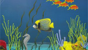 Tropical Fish Wall Mural Underwater Mural Ceramics