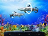 Tropical Fish Wall Mural Us $15 03 Off Custom Photo 3d Room Wallpaper Coral Reef Sharks Home Improvement Decoration Painting 3d Wall Murals Wallpaper for Walls 3 D In
