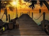 "Tropical island Wall Murals Wall Mural Tropical island ""treasure Pirates island"" Photo"