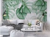Tropical Leaves Wall Mural Pin On Home Decor Ideas