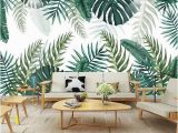 Tropical Leaves Wall Mural southeast asia Tropical Rain forest Leaves Wallpaper Big