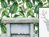 Tropical Leaves Wall Mural Tropical Leaves Wall Mural Self Adhesive Fabric Wallpaper