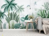 Tropical Leaves Wall Mural Tropical Palm Leaves Wallpaper Mural Wall Decorative Wall Papers Home Improvement Rain forest Green Plant Leaf Wall Murals Wallpapers Widescreen