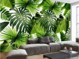 Tropical Murals Cheap Custom 3d Mural Wallpaper southeast asia Tropical Rainforest Banana