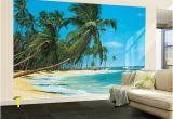 Tropical Murals Cheap south Sea Blue Beach Landscape Wall Mural Wallpaper Mural 144 X