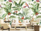 Tropical Murals Paintings Beibehang 3d Living Room Background Decorated Wallpaper Hand Painted