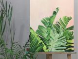 Tropical Paradise Wall Mural Bird Of Paradise Art Tropics Painting Tropical Foliage