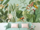 Tropical Paradise Wall Mural Birds Of Paradise Tropical Wall Mural
