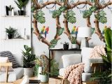 Tropical Paradise Wall Mural Removable Wallpaper Tropical Cheetahs Wallpaper Floral Wallpaper Tropical Wallpaper Wall Covering Wallpaper Wallpaper Mural 108