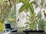 Tropical Rainforest Wall Mural Retro Tropical Rain forest Wallpaper southeast asia Plant