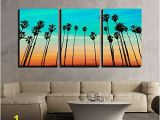 Tropical Sunset Wall Murals Palm Tree Canvas Wall Art Amazon