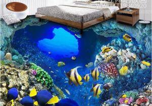 Tropical Tile Murals Custom Hd 3d Flooring Tropical Fish Wallpaper 3d Floor Tiles Mural