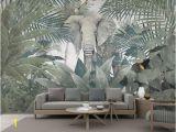 Tropical Wall Murals Wallpaper 3d Wallpaper Custom Mural Landscape nordic Tropical Plant Coconut Tree Animal Elephant Landscape Tv Murals Wallpaper for Walls 3 D Wallpaper to