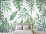 Tropical Wall Murals Wallpaper 3d Wallpaper nordic Style Tropical Plant Banana Leaf Hand Painted Tv Background Wall Murals Living Room Bedroom Papel De Parede Wallpaper High