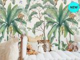 Tropical Wall Murals Wallpaper Jungle Wall Mural Wallpaper Removable Peel & Stick Wallpaper