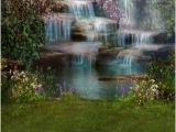 Tropical Waterfall Murals 6150 Tropical Mystical Waterfall Backdrop Backdrop Outlet 1