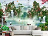 Tropical Waterfall Murals Beibehang Custom Wallpaper Hd Landscape Waterfall Mural Tv