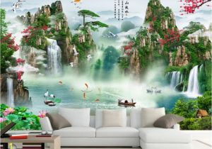 Tropical Waterfall Murals Beibehang Custom Wallpaper Hd Landscape Waterfall Mural Tv