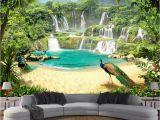 Tropical Waterfall Murals Beibehang Custom Wallpaper Mural Waterfall Lake Landscape 3d Tv