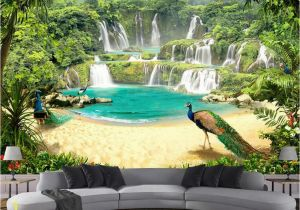 Tropical Waterfall Murals Beibehang Custom Wallpaper Mural Waterfall Lake Landscape 3d Tv