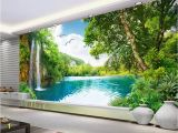 Tropical Waterfall Murals Beibehang Customize Any Size 3d Wall Murals Wallpaper Living Room