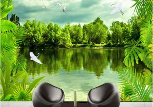 Tropical Waterfall Murals Custom 3d Mural Wallpaper Tropical Rain forest Nature Scenery